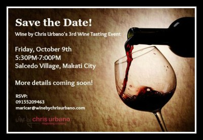 Wine by Chris Urbano's 3rd Wine Tasting Event
